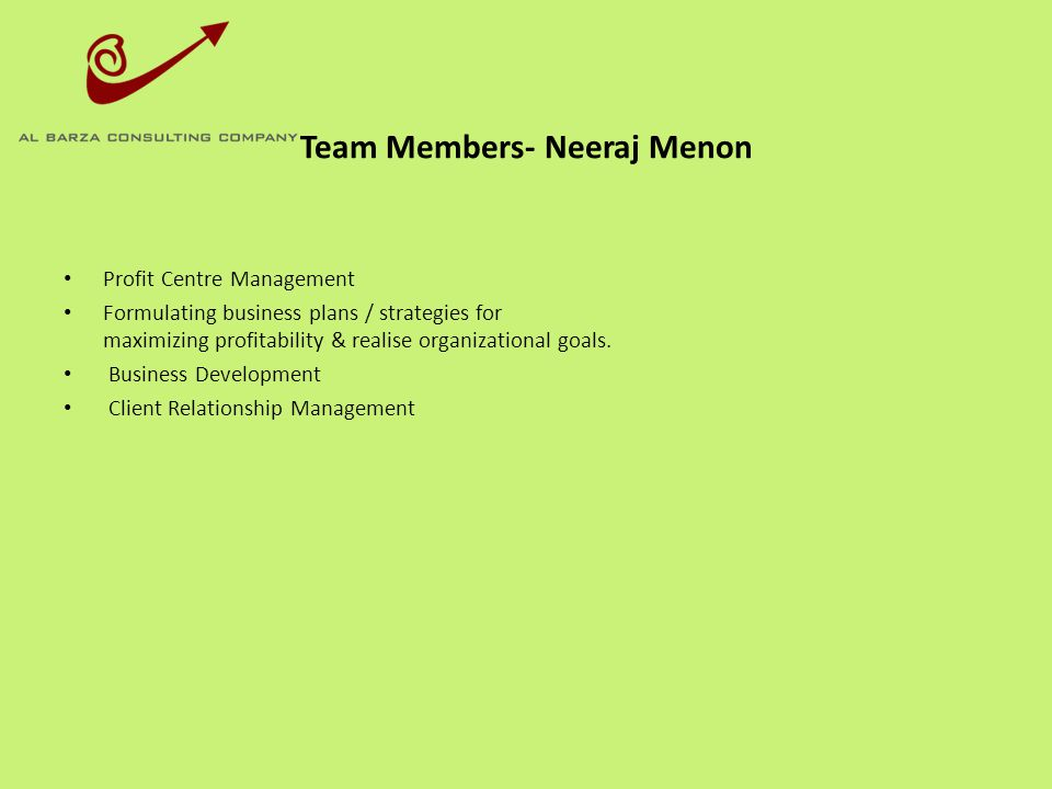 Team Members- Neeraj Menon