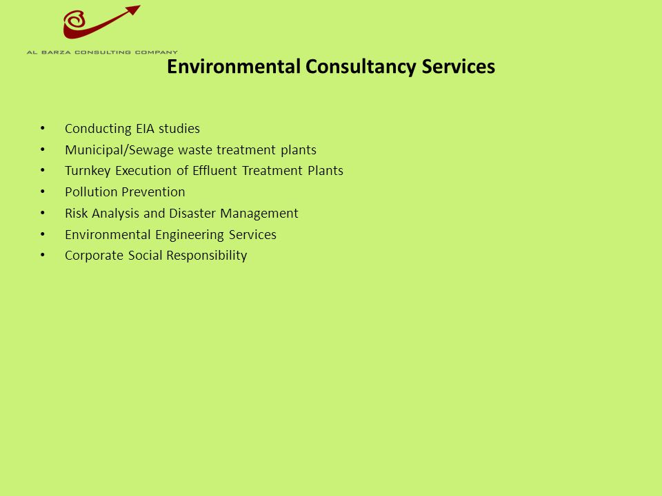Environmental Consultancy Services
