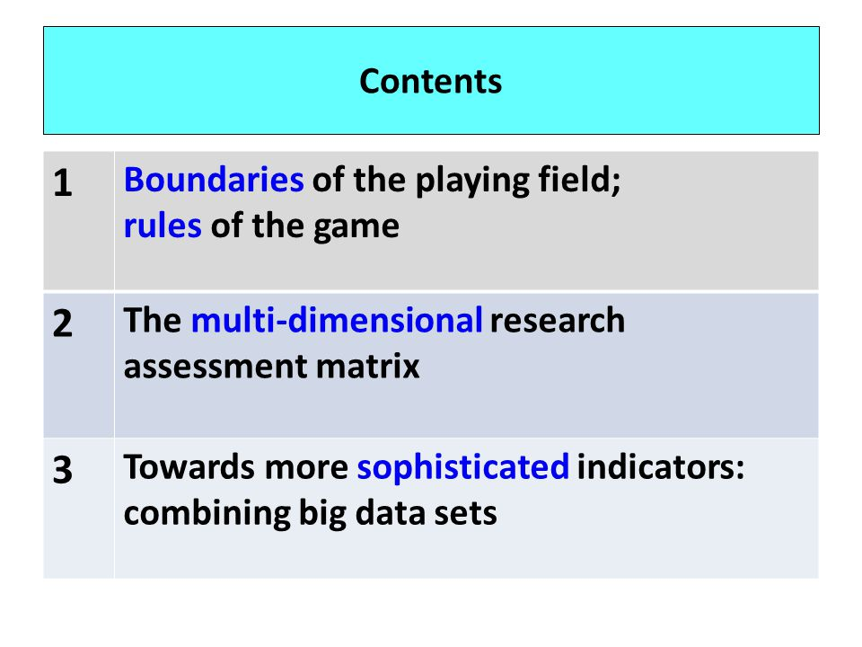 1 2 3 Contents Boundaries of the playing field; rules of the game