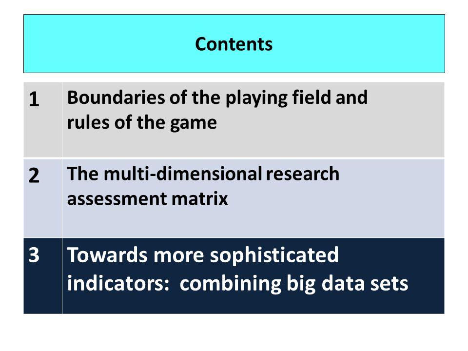 Towards more sophisticated indicators: combining big data sets