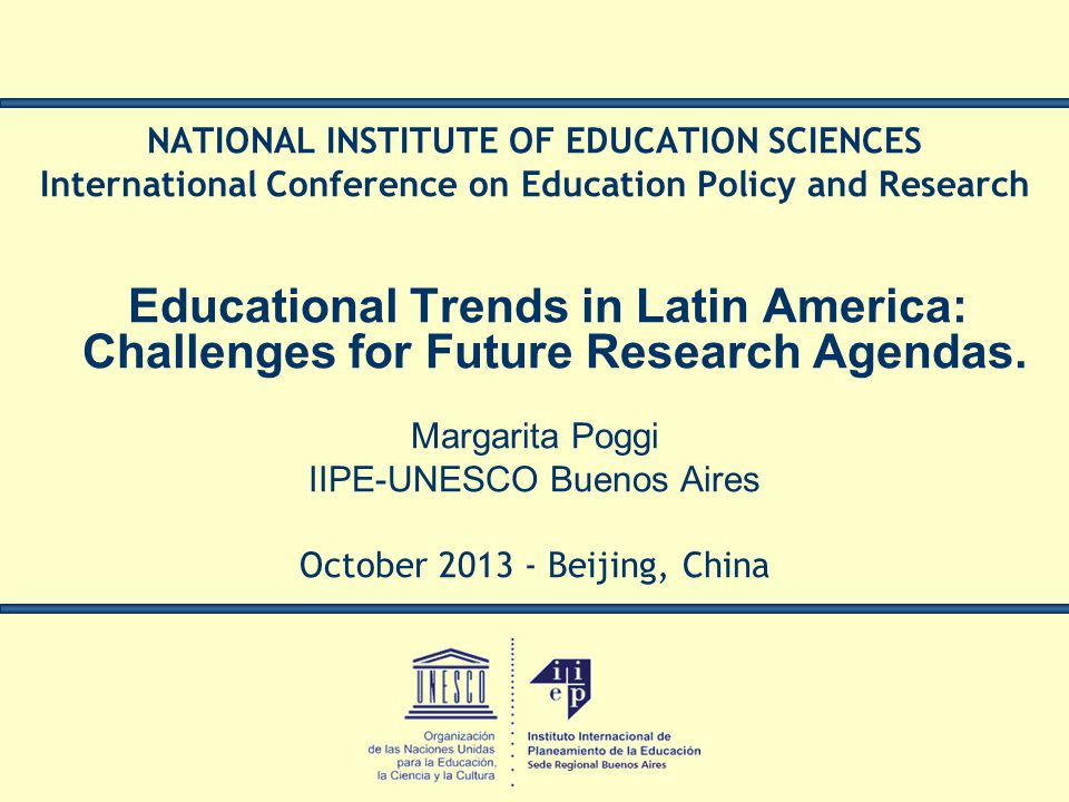 NATIONAL INSTITUTE OF EDUCATION SCIENCES
