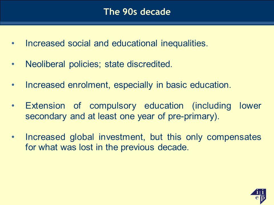 Increased social and educational inequalities.