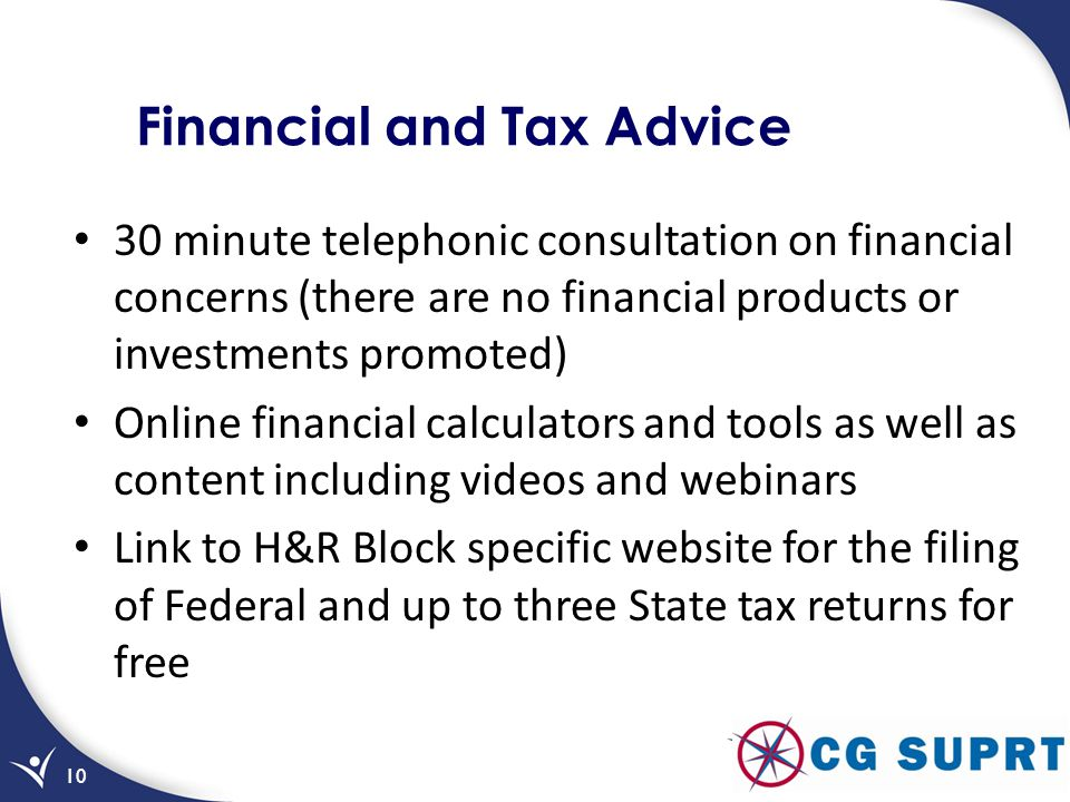 Financial and Tax Advice