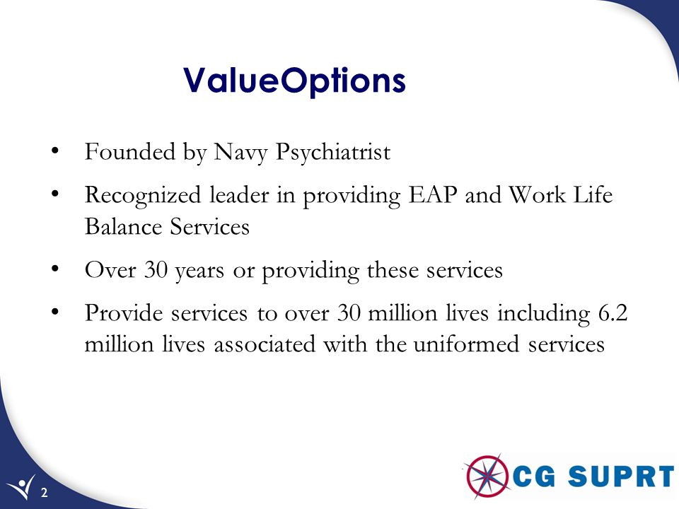 ValueOptions Founded by Navy Psychiatrist