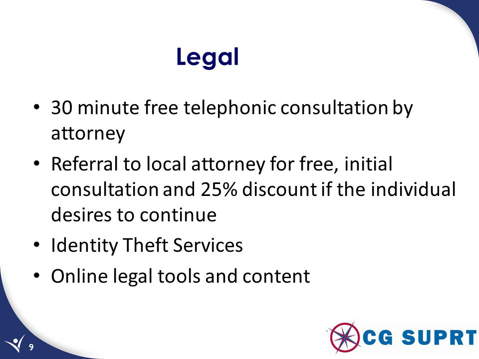 Legal 30 minute free telephonic consultation by attorney