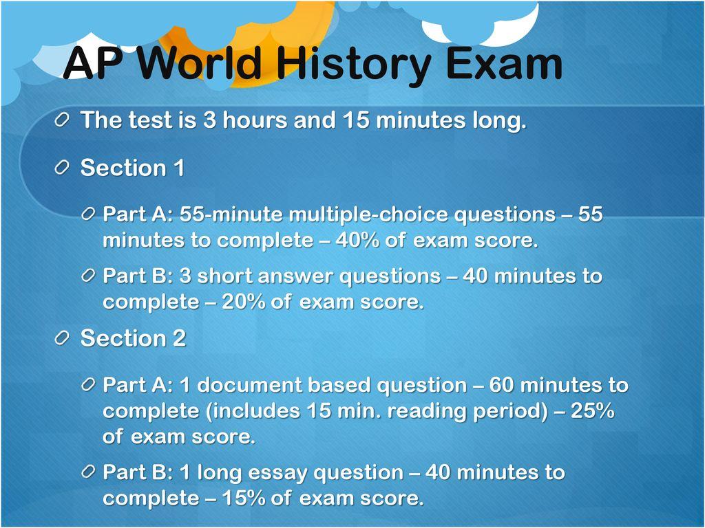 Ap world long essay question 3