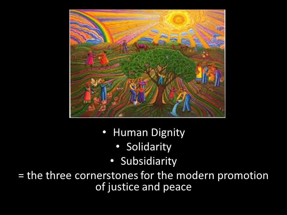 = the three cornerstones for the modern promotion of justice and peace
