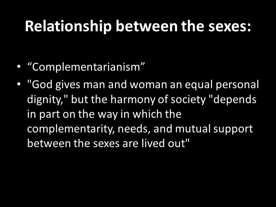 Relationship between the sexes: