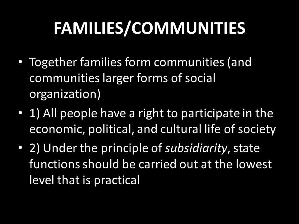 FAMILIES/COMMUNITIES