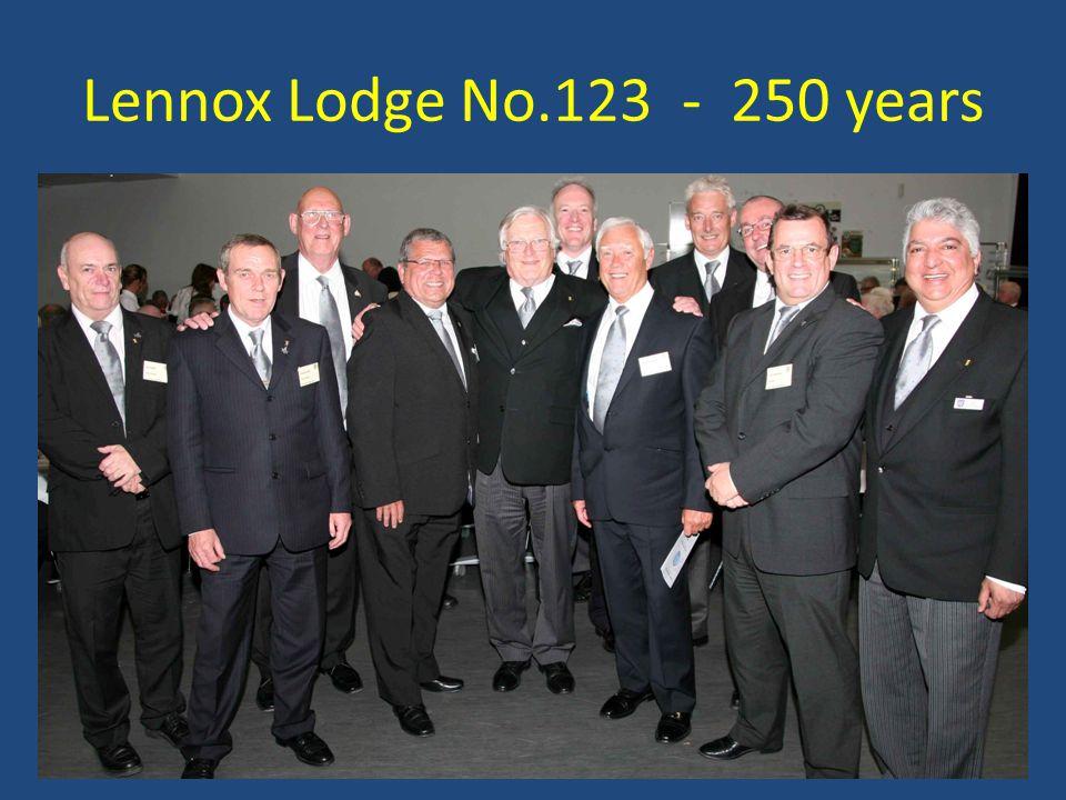 Lennox Lodge No.123 - 250 years