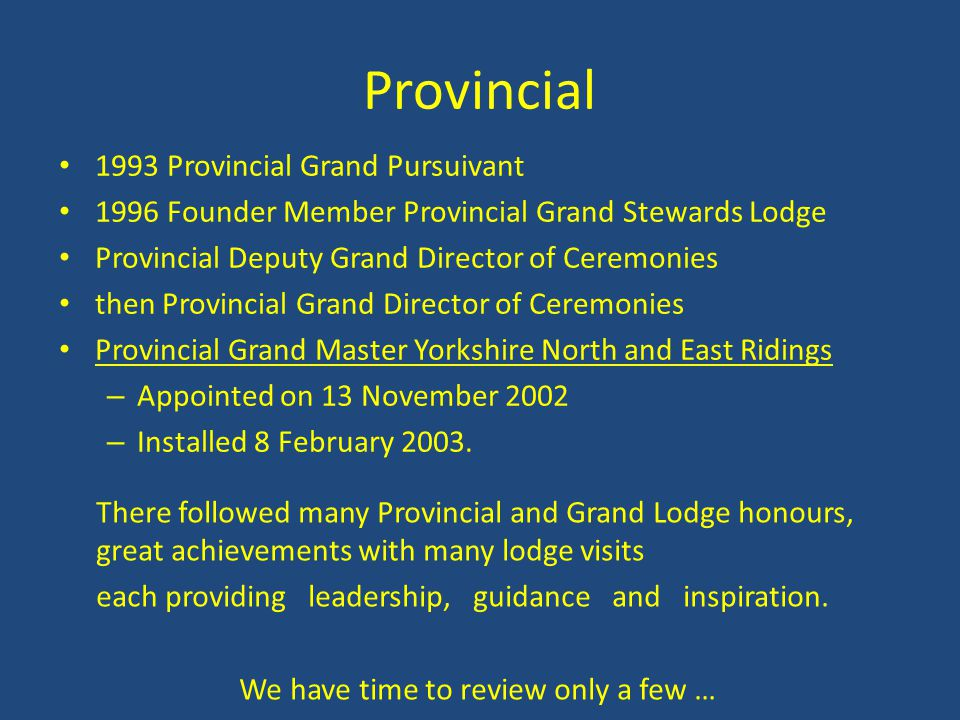 Provincial 1993 Provincial Grand Pursuivant