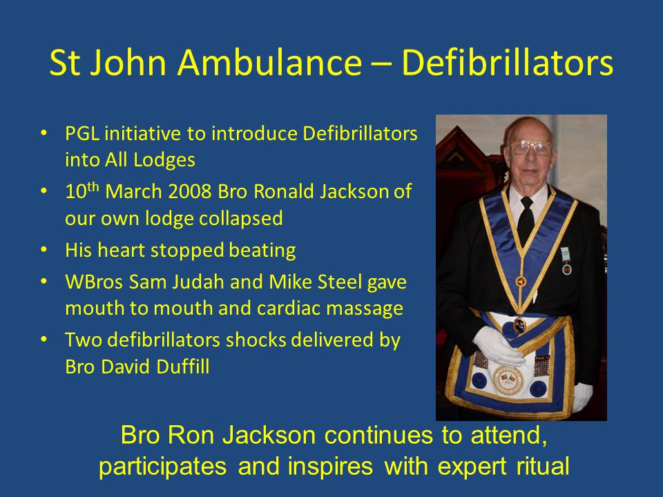 St John Ambulance – Defibrillators