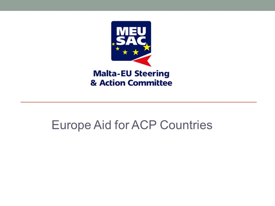 Europe Aid for ACP Countries