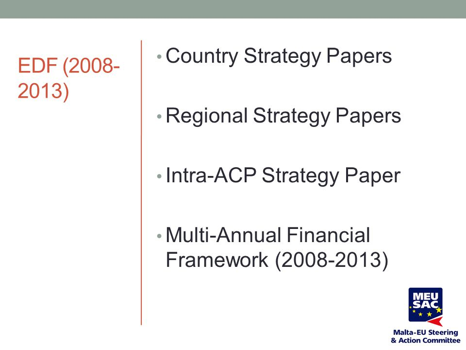 EDF (2008-2013) Country Strategy Papers. Regional Strategy Papers.