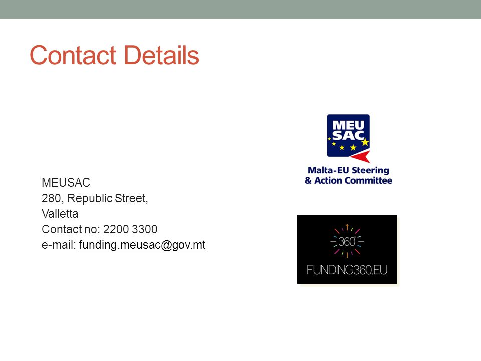 Contact Details 280, Republic Street, MEUSAC Valletta