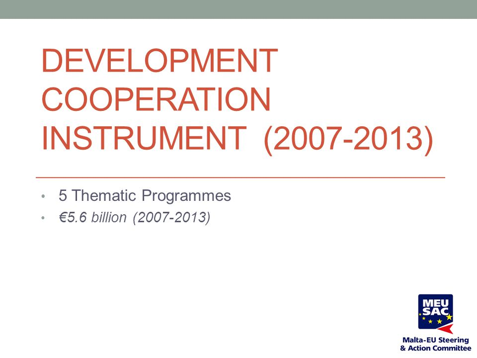 Development Cooperation Instrument (2007-2013)