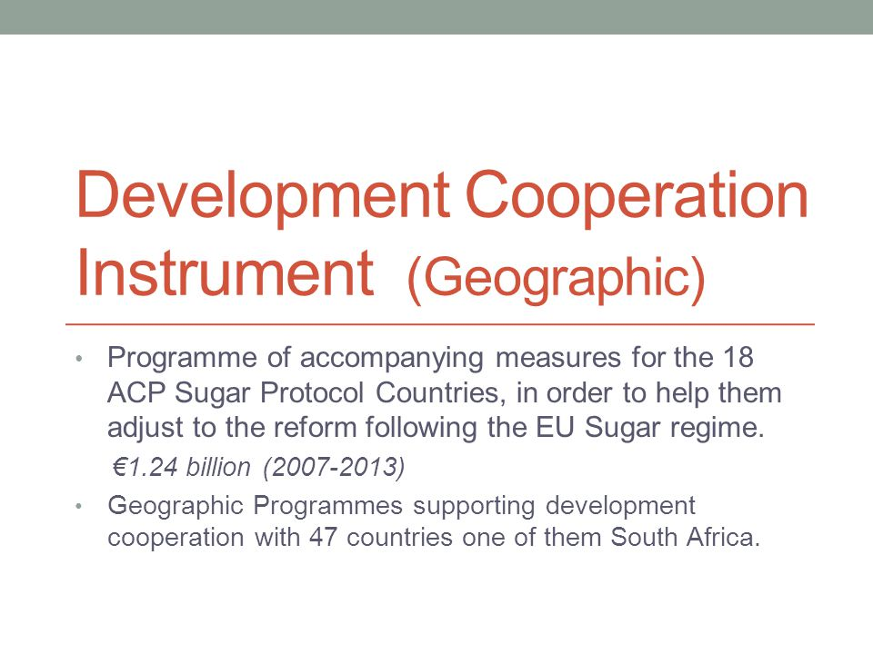 Development Cooperation Instrument (Geographic)