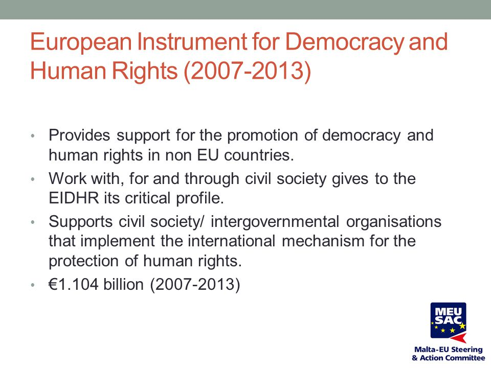 European Instrument for Democracy and Human Rights (2007-2013)