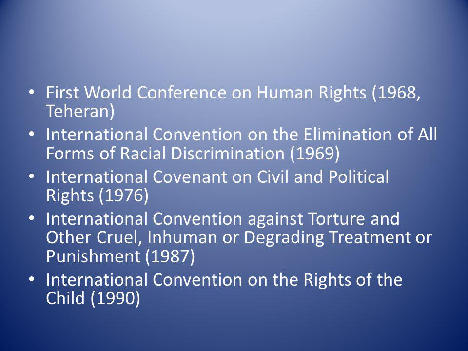 First World Conference on Human Rights (1968, Teheran)