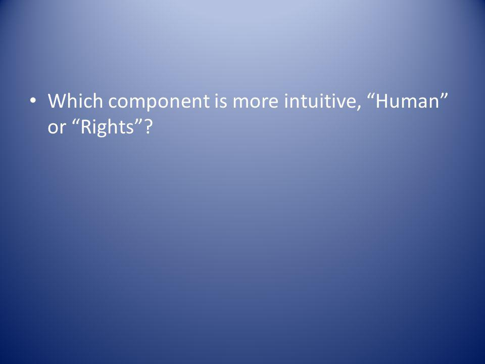 Which component is more intuitive, Human or Rights
