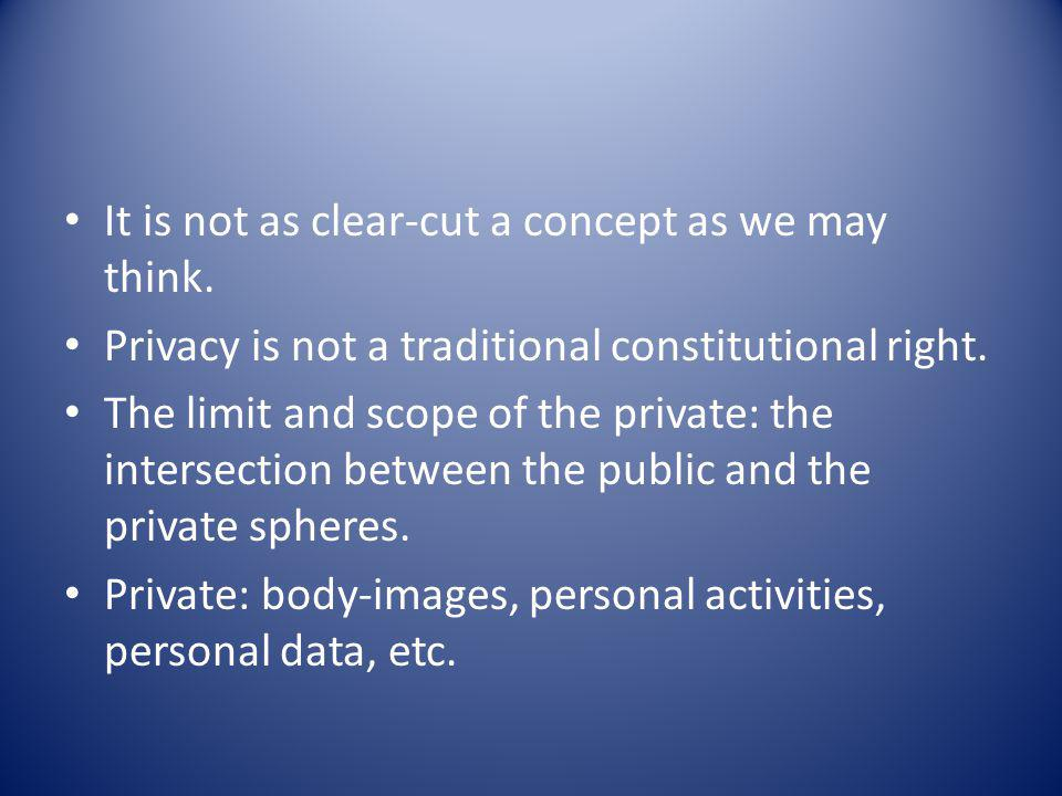 It is not as clear-cut a concept as we may think.