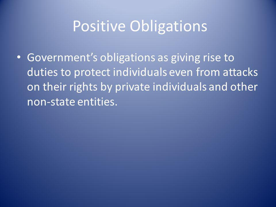 Positive Obligations