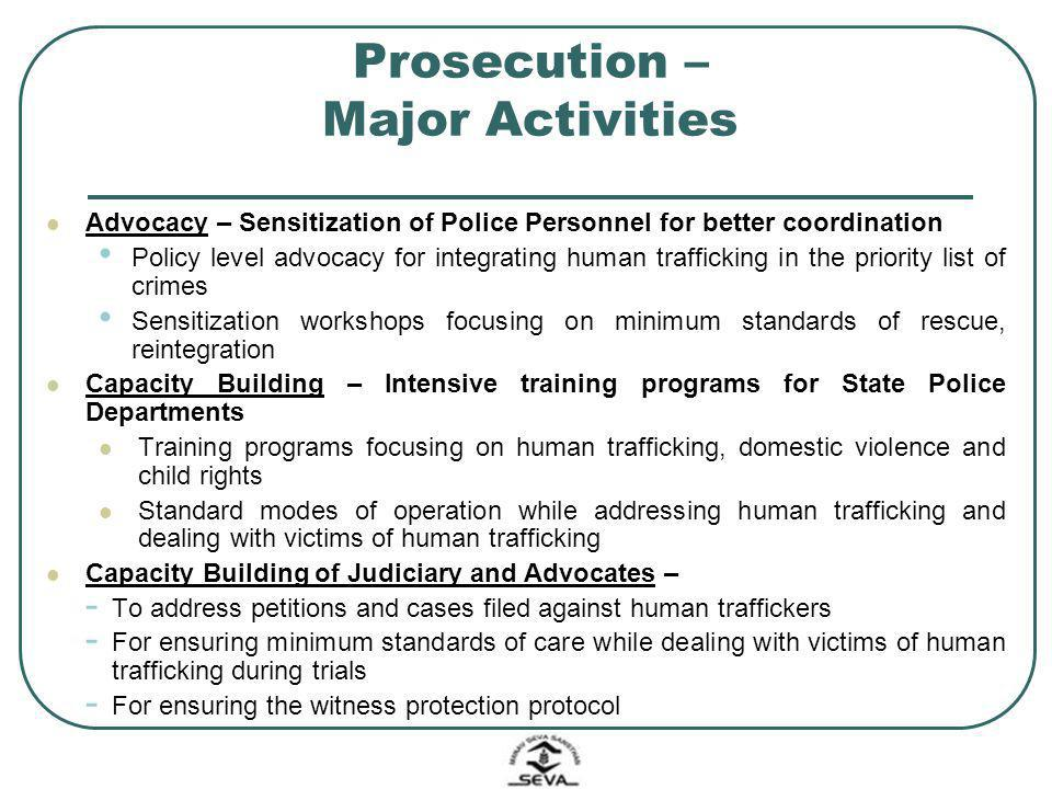 Prosecution – Major Activities