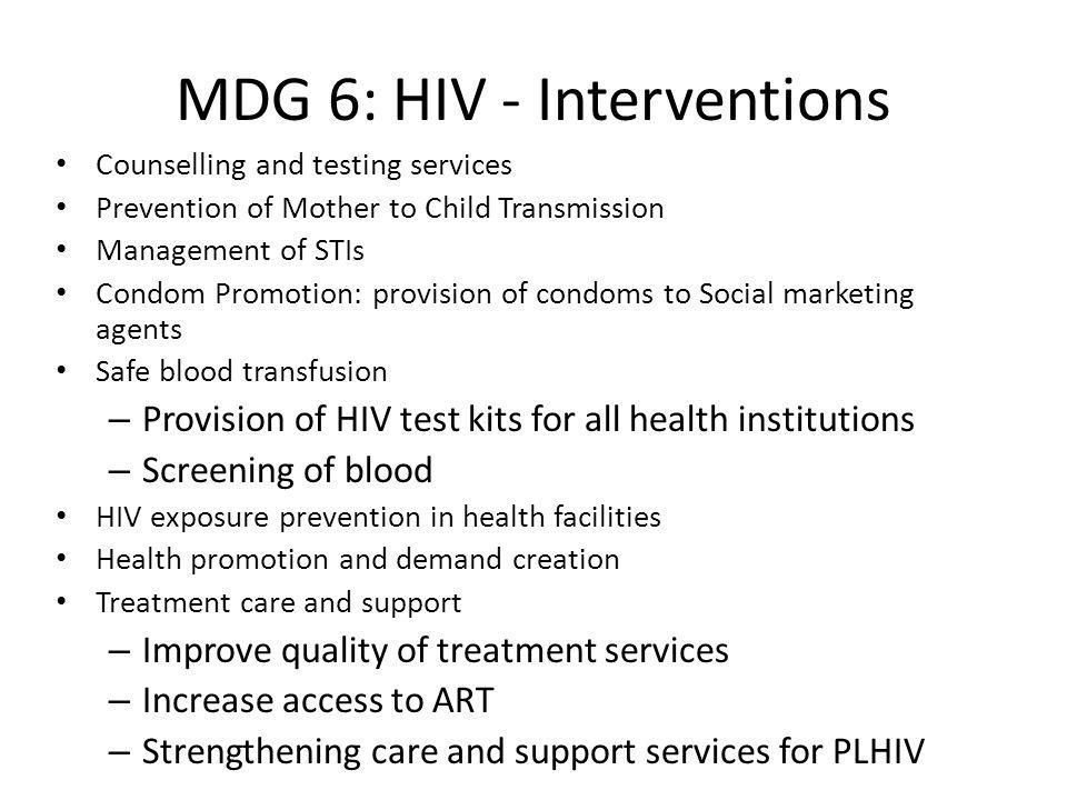 MDG 6: HIV - Interventions