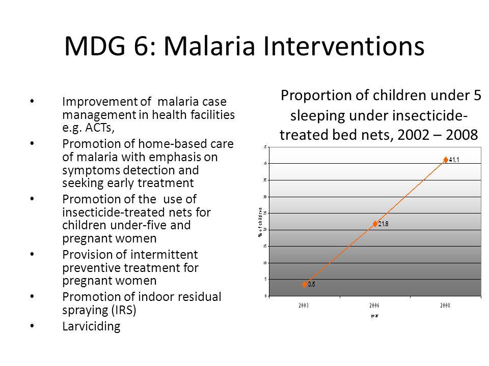 MDG 6: Malaria Interventions