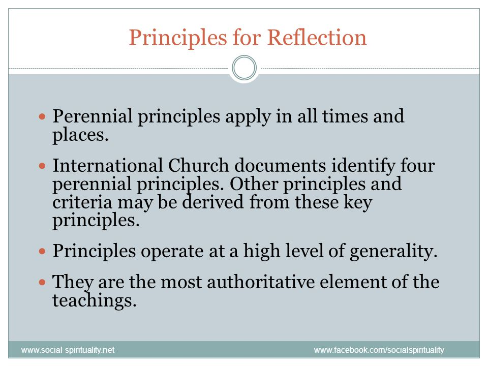 Principles for Reflection