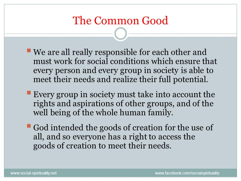 The Common Good