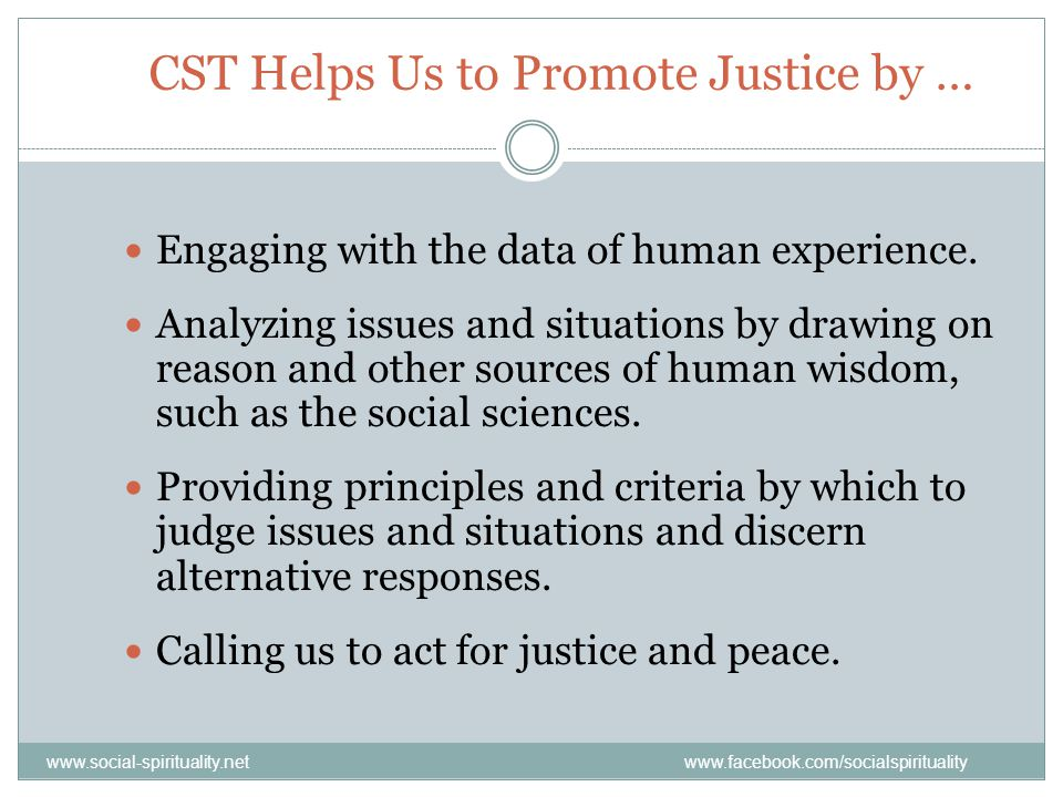 CST Helps Us to Promote Justice by …