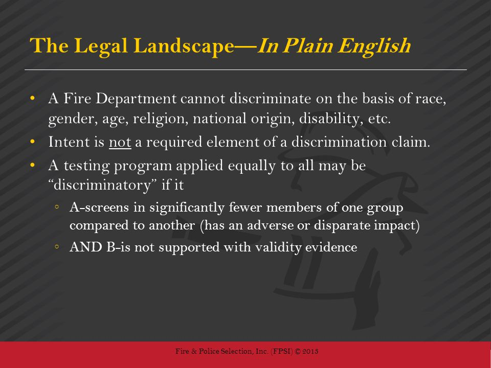 The Legal Landscape—In Plain English