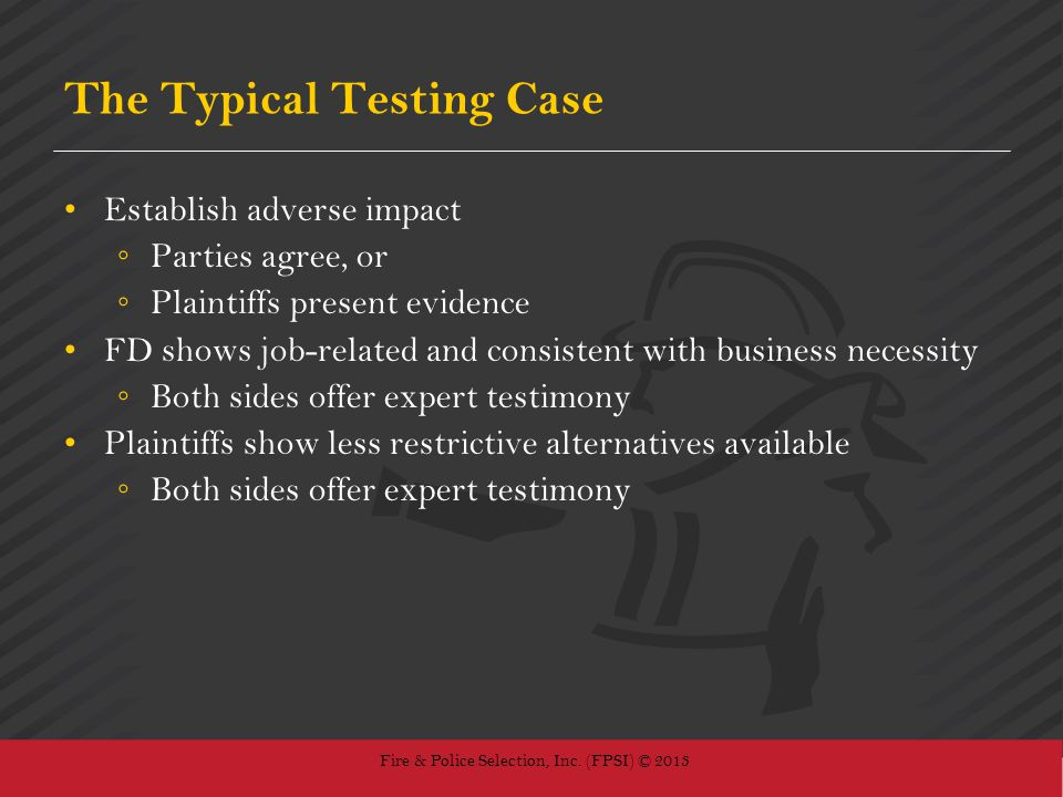 The Typical Testing Case