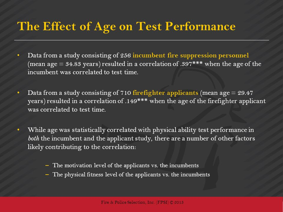 The Effect of Age on Test Performance