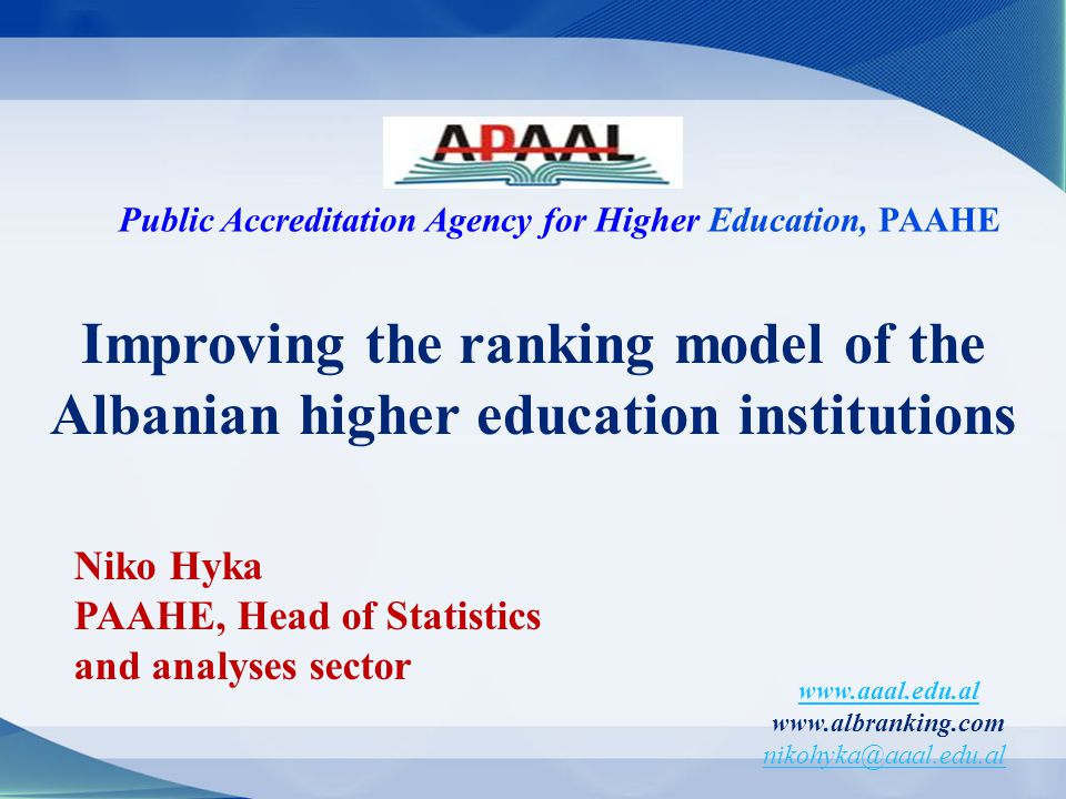 Public Accreditation Agency for Higher Education, PAAHE