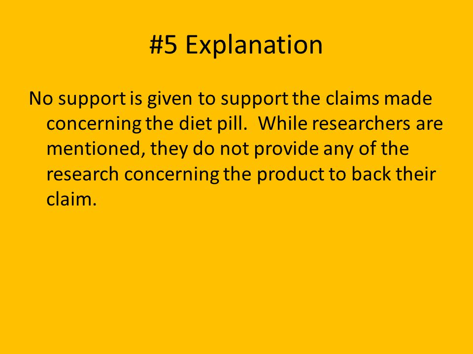 #5 Explanation