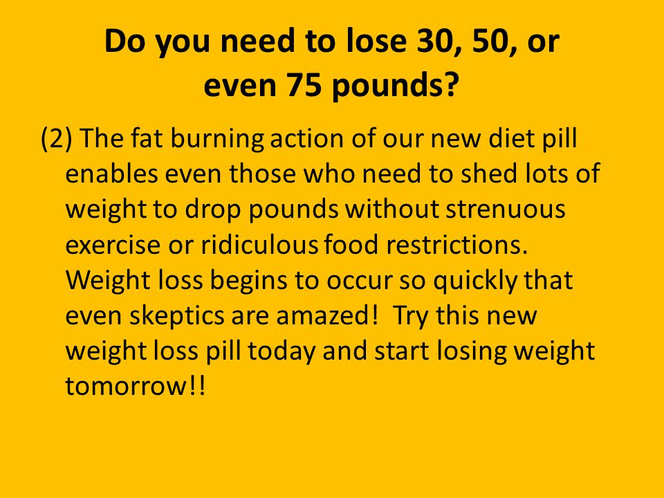Do you need to lose 30, 50, or even 75 pounds