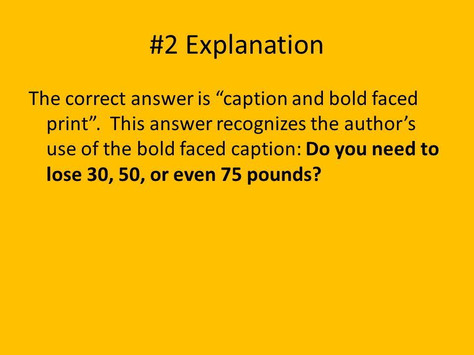 #2 Explanation