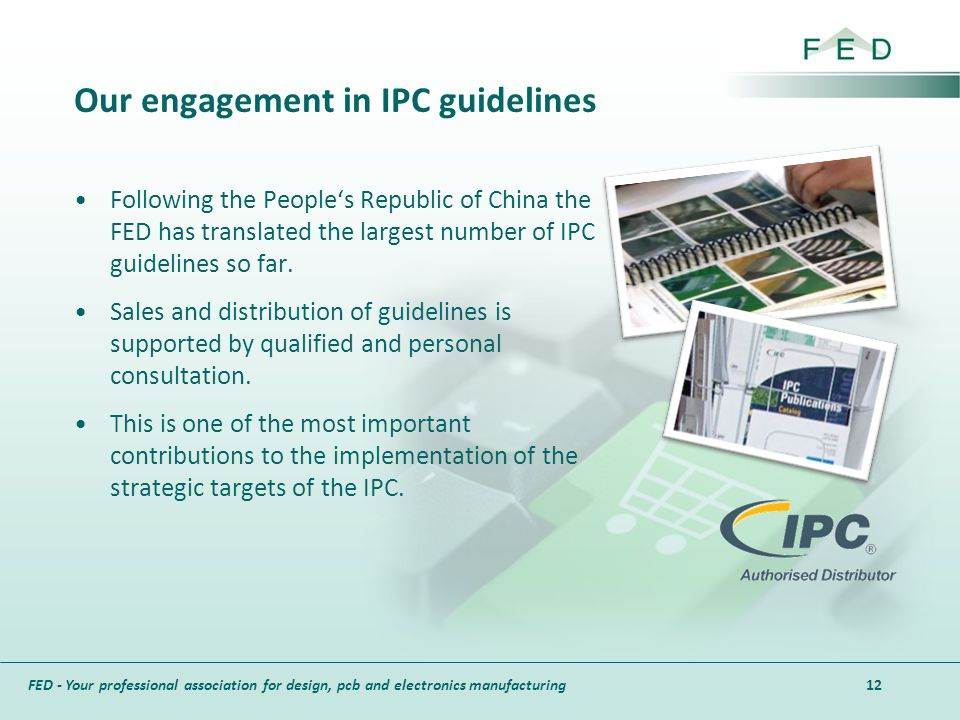 Our engagement in IPC guidelines