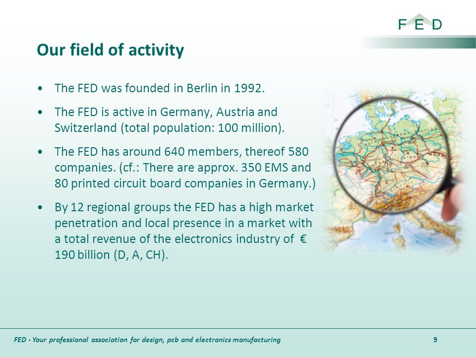 Our field of activity The FED was founded in Berlin in 1992.