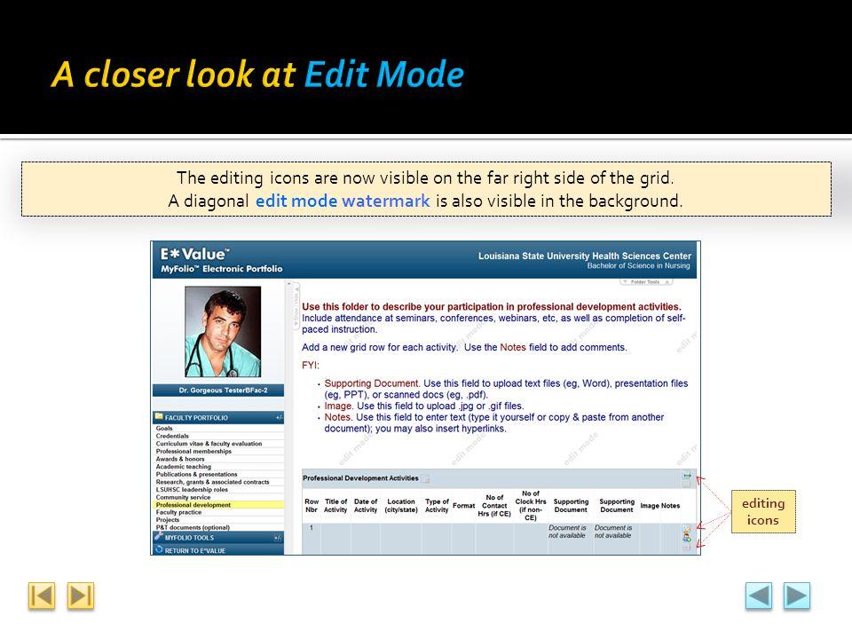 A closer look at Edit Mode
