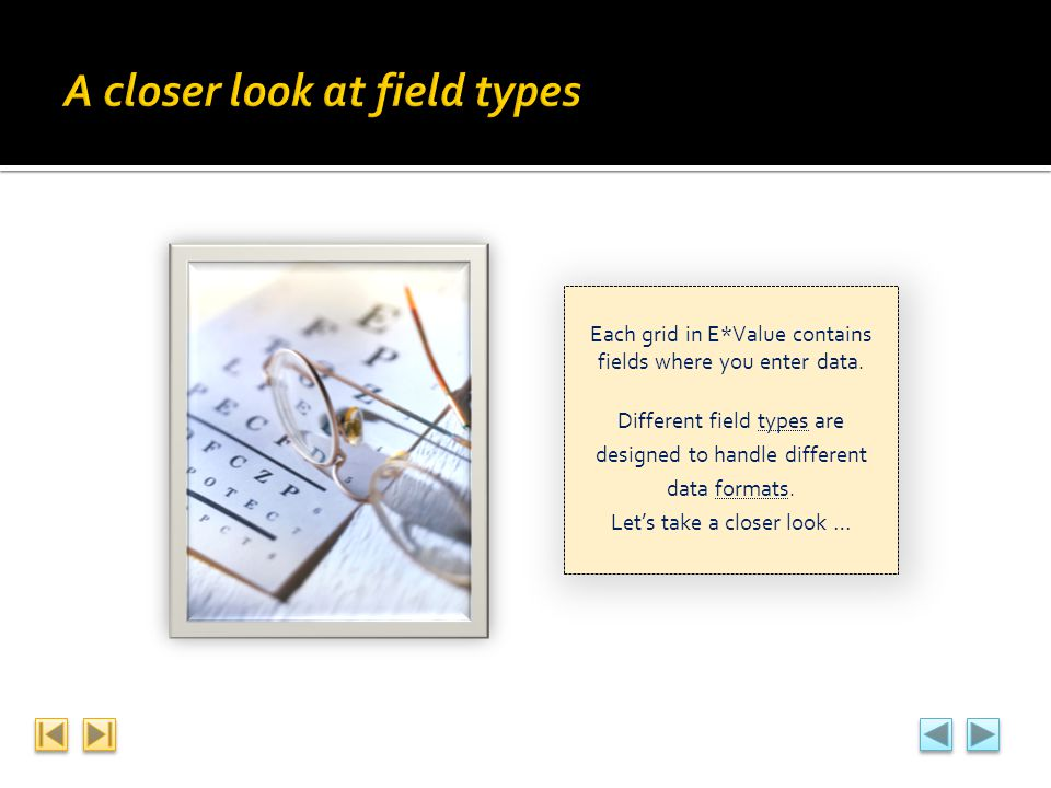A closer look at field types