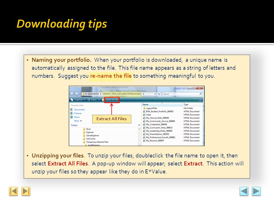 Downloading tips