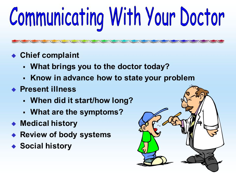 Communicating With Your Doctor