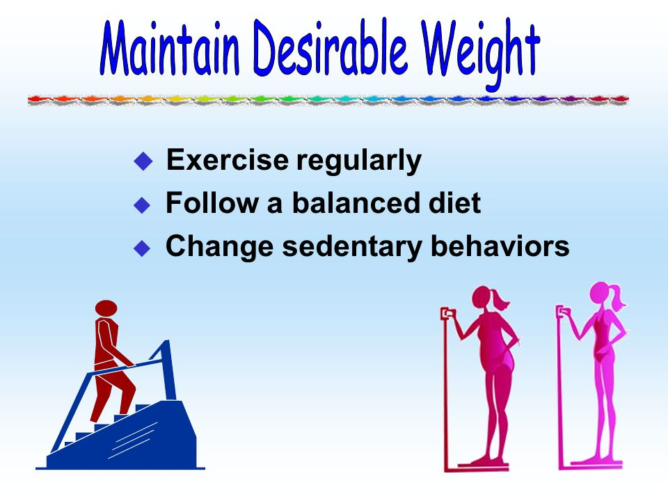 Maintain Desirable Weight