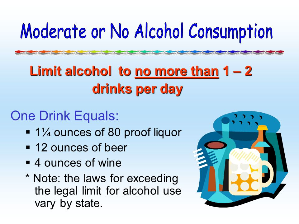 Moderate or No Alcohol Consumption