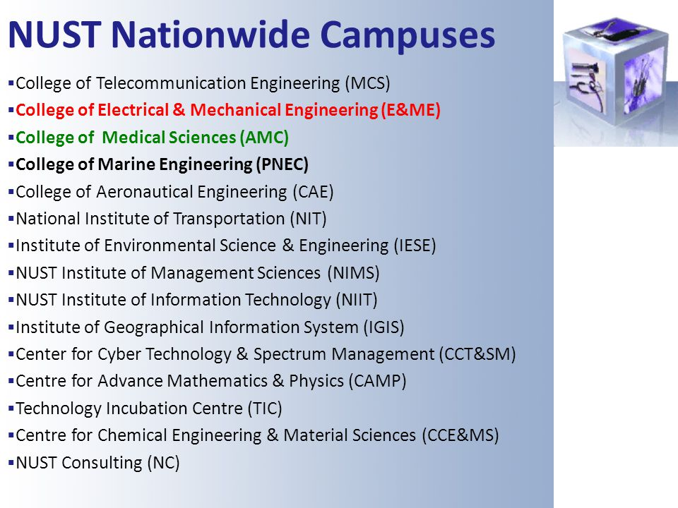 NUST Nationwide Campuses