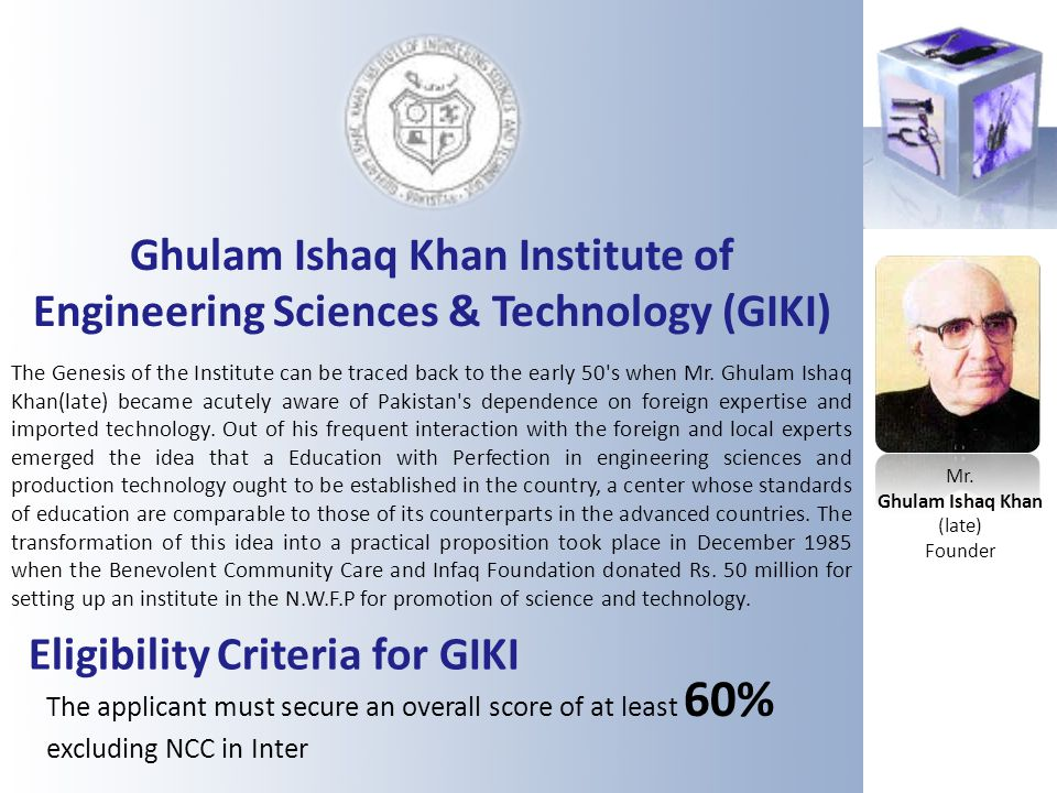 Ghulam Ishaq Khan (late)
