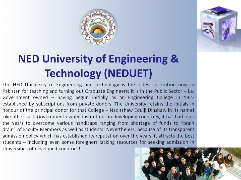 NED University of Engineering & Technology (NEDUET)